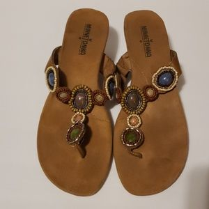 Minnetonka Shoes - MINNETONKA Uptown Wedge Sandals size 9